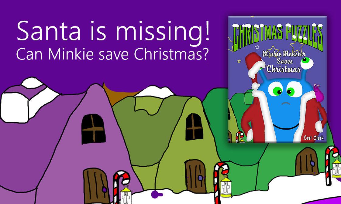 Save Christmas.Christmas Puzzles Minkie Monster Saves Christmas